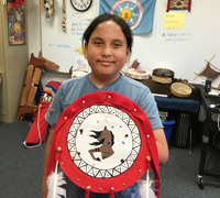 Students made Native shields during their American Indian Culture class.